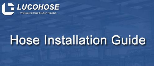 Hydraulic hose installation LUCOHOSE
